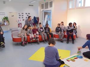 Institut d'Éducation Motrice de Villepatour - Tapis narratif - Chat qui sourit... - Médiathèque Presles-en-Brie