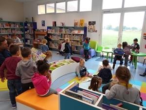 Accueil des élèves de l'école maternelle - 2016-2017 - Médiathèque Presles-en-Brie