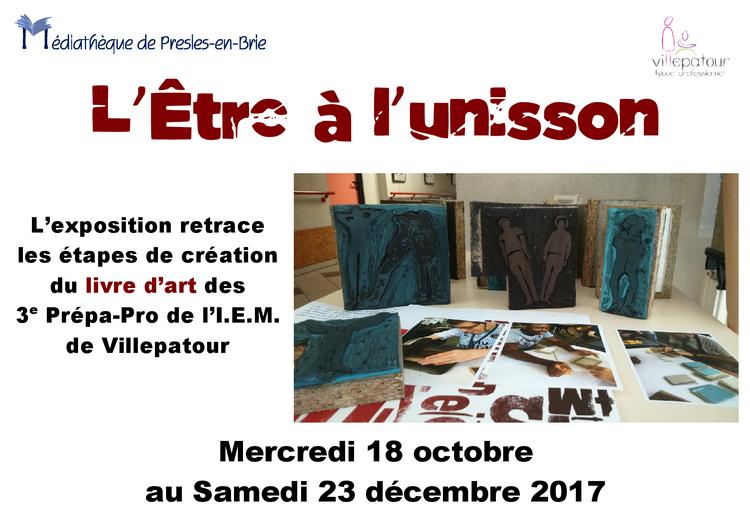 """Exposition """"L'Être à l'unisson"""" - Médiathèque de Presles-en-Brie"""