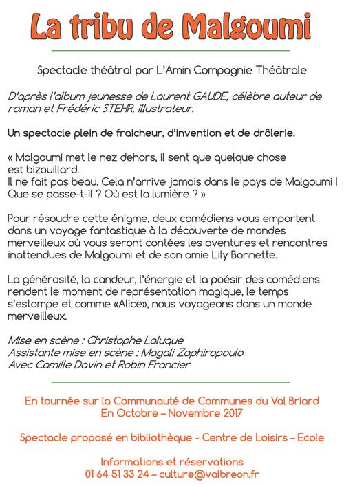 La tribu de Malgoumi - Médiathèque de Presles-en-Brie