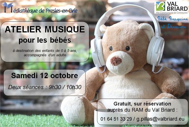 Atelier musique - RAM Val Briard - Médiathèque de Presles-en-Brie