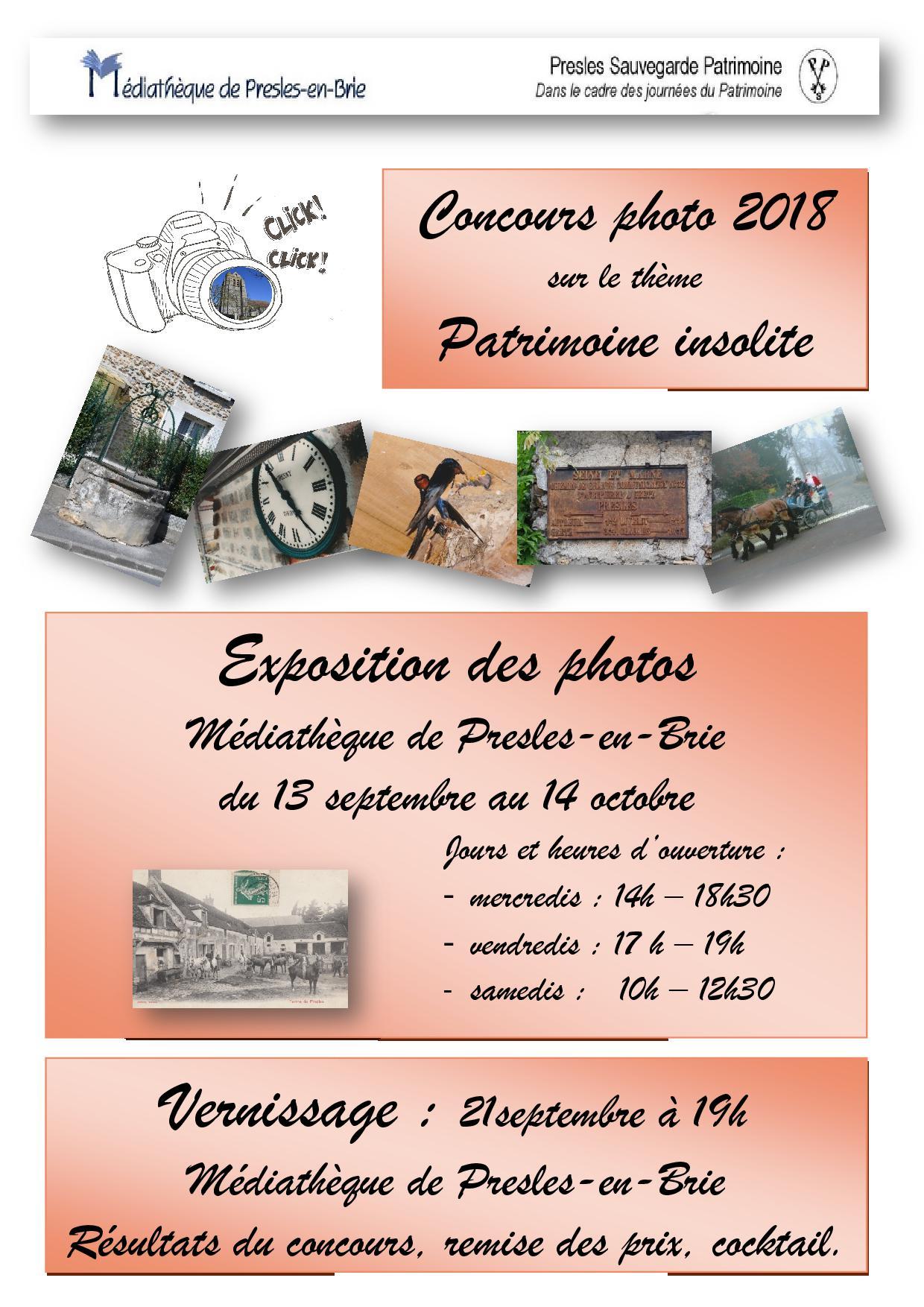 Exposition et Vernissage : Concours - Presles-en-Brie, patrimoine insolite