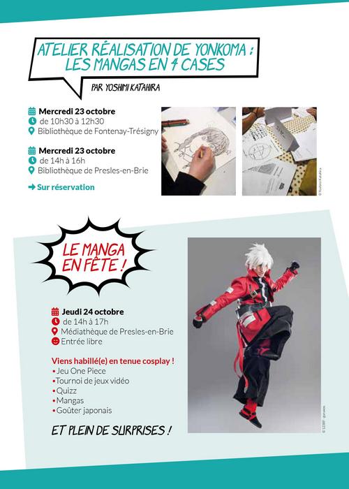 Semaine Mangas avec le Val Briard - Médiathèque de Presles-en-Brie