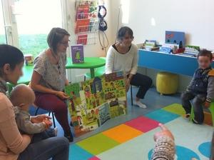 """Bébés lecteurs - Image géante """"Au jardin potager"""" - Médiathèque Presles-en-Brie"""
