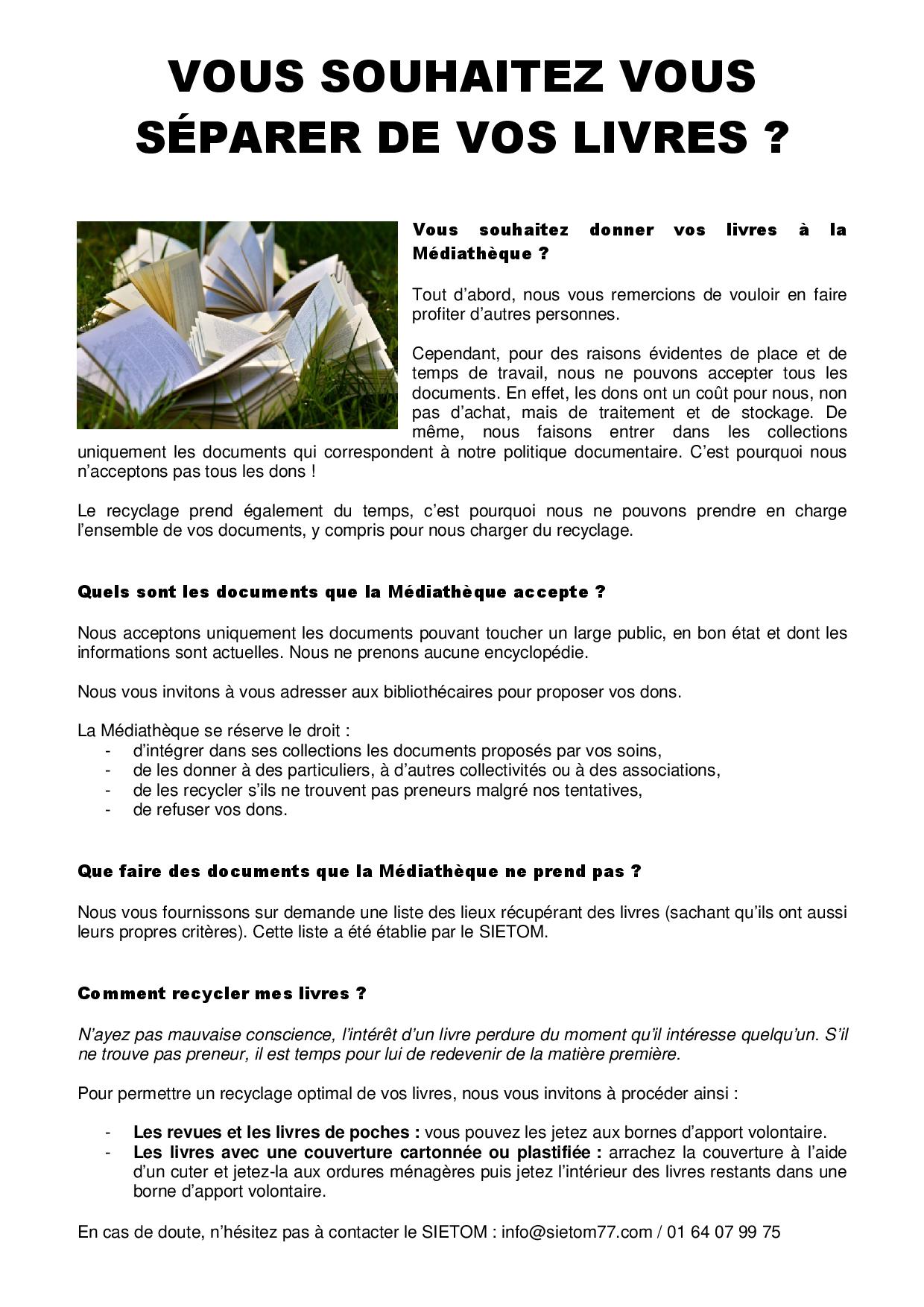 Dons des usagers - Médiathèque Presles-en-Brie