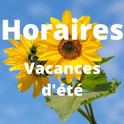 Horaires des vacances d'été - Médiathèque Presles-en-Brie