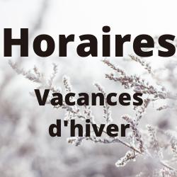 Horaires des vacances d'hiver - Médiathèque de Presles-en-Brie