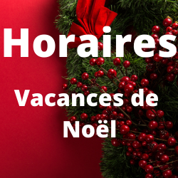 Horaires Vacances de Noël - Médiathèque de Presles-en-Brie